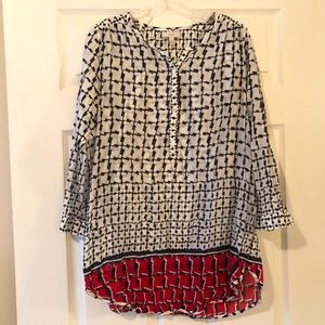 Patterned J Crew Tunic